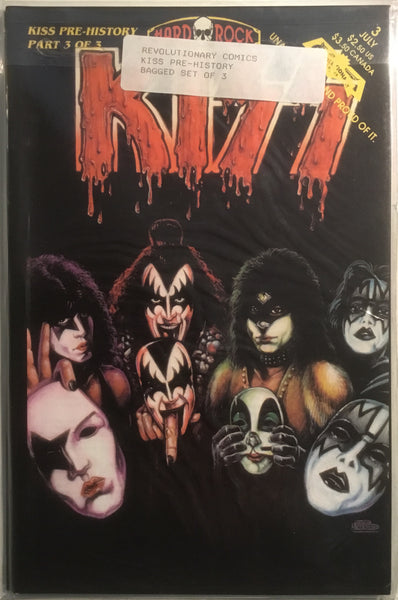 KISS PRE-HISTORY SET OF 3 (SIGNED BY CREATORS)