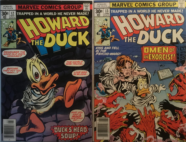 HOWARD THE DUCK #12 + #13 FIRST KISS APPEARANCES