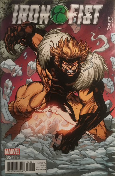 JIM LEE X-MEN TRADING CARD VARIANT COVER - SABRETOOTH (IRON FIST # 5)