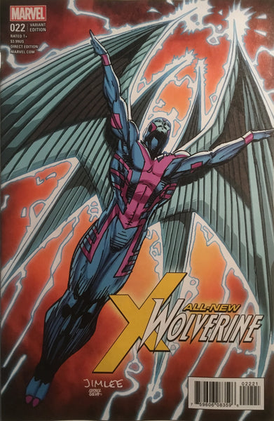 JIM LEE X-MEN TRADING CARD VARIANT COVER - ARCHANGEL (ALL NEW WOLVERINE #22)