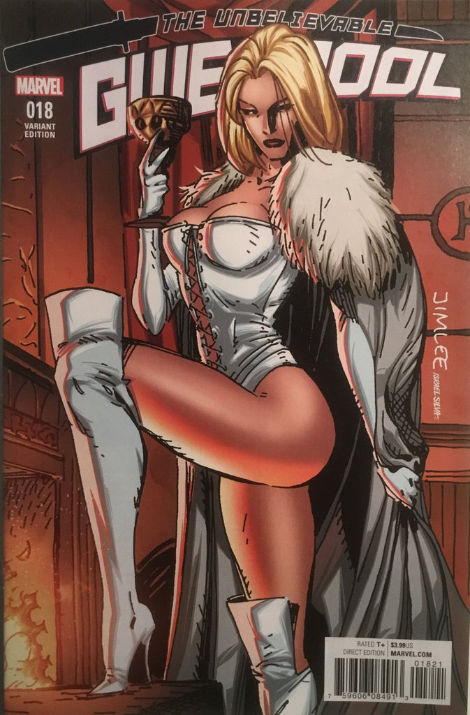 JIM LEE X-MEN TRADING CARD VARIANT COVER - WHITE QUEEN (GWENPOOL #18)