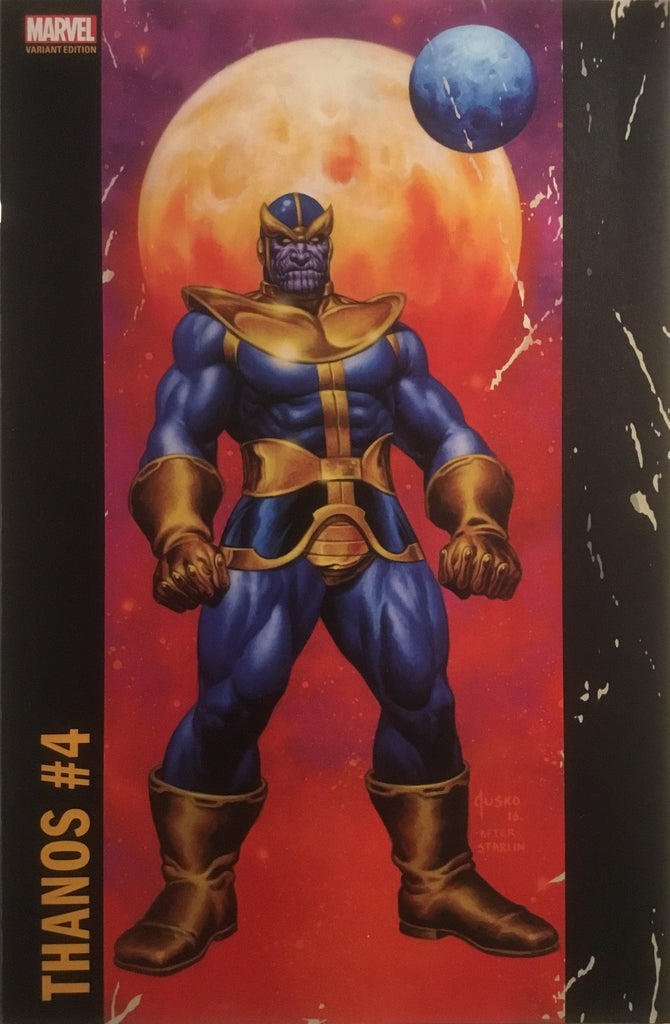 JOE JUSKO CORNER BOX VARIANT COVER - THANOS # 4