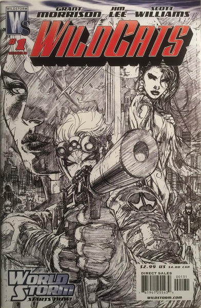 WILDCATS (2006) # 1 JIM LEE BLACK & WHITE 1:50 VARIANT