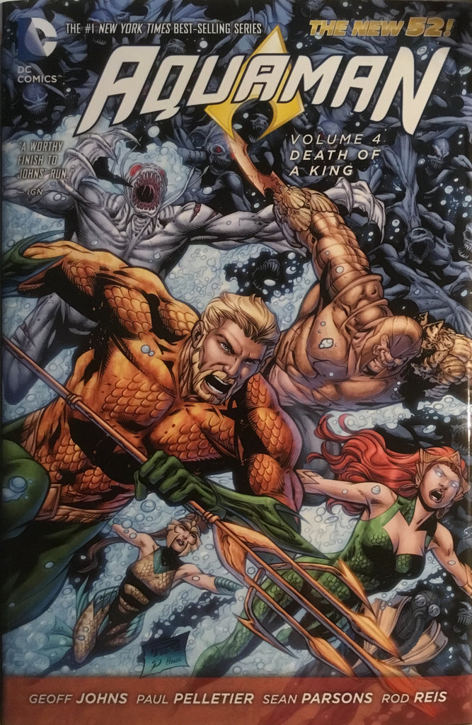 AQUAMAN (NEW 52) VOL 4 DEATH OF A KING HARDCOVER GRAPHIC NOVEL