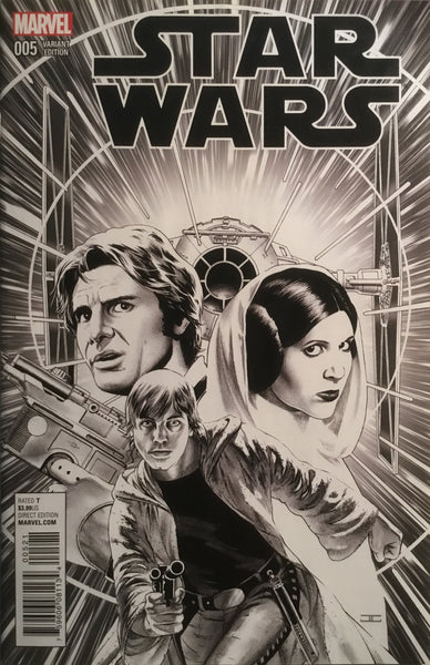 STAR WARS (MARVEL) # 5 CASSADAY SKETCH 1:100 VARIANT COVER