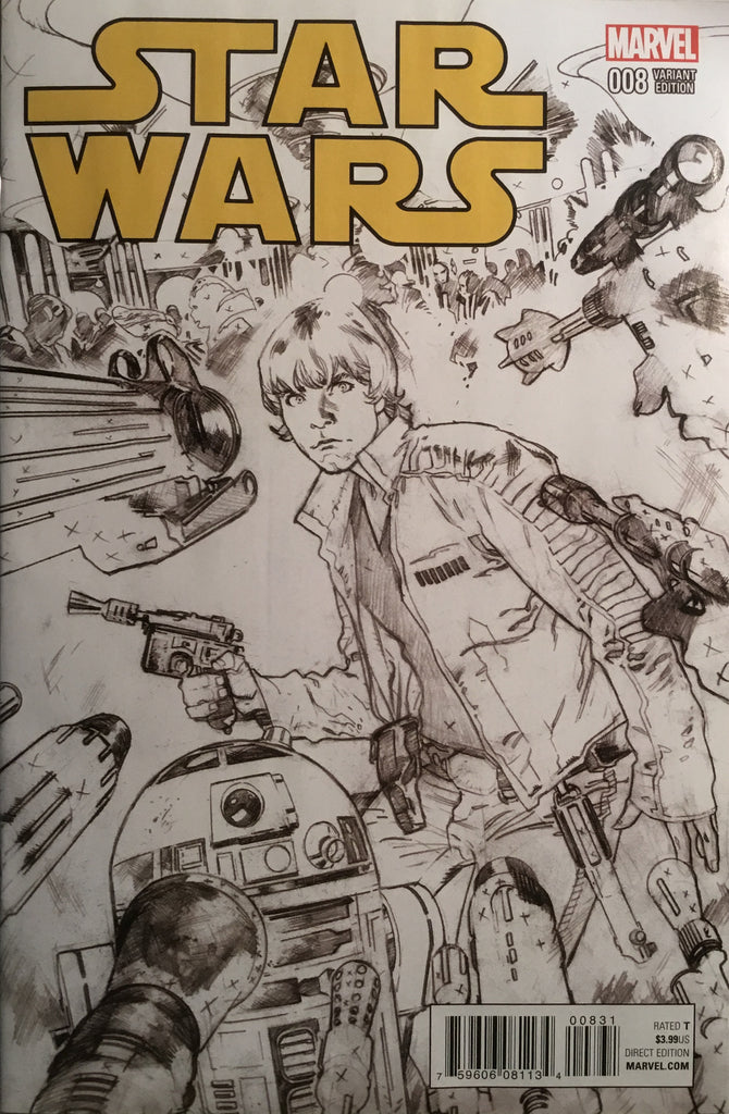 STAR WARS (2015-2020) # 8 IMMONEN SKETCH 1:100 VARIANT COVER
