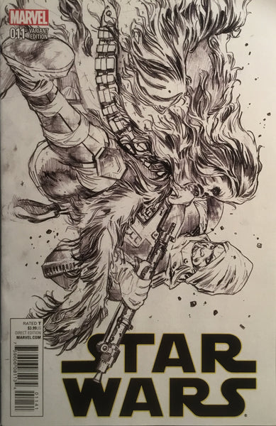 STAR WARS (2015-2020) #11 IMMONEN SKETCH 1:100 VARIANT COVER