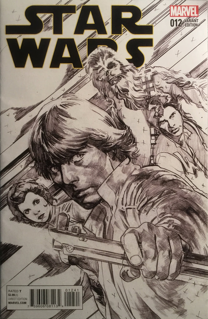 STAR WARS (2015-2020) #12 IMMONEN SKETCH 1:100 VARIANT COVER