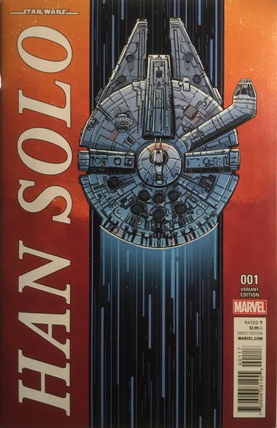 STAR WARS HAN SOLO # 1 MILLENNIUM FALCON 1:10 VARIANT COVER