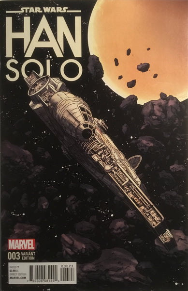 STAR WARS HAN SOLO # 3 MILLENNIUM FALCON 1:10 VARIANT COVER