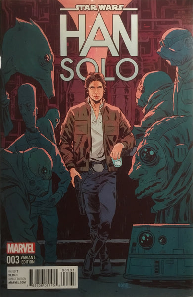 STAR WARS HAN SOLO # 3 WALSH 1:25 VARIANT COVER
