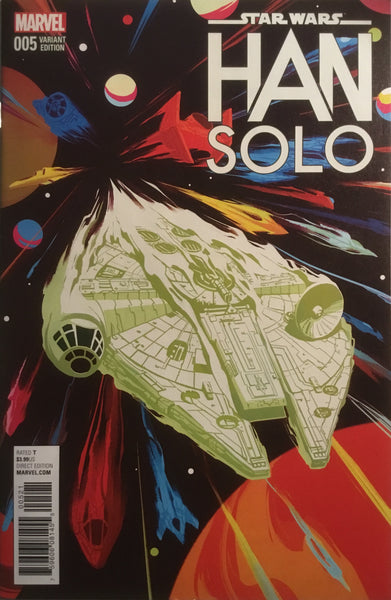 STAR WARS HAN SOLO # 5 MILLENNIUM FALCON 1:10 VARIANT COVER