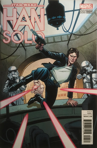 STAR WARS HAN SOLO # 5 STEWART 1:25 VARIANT COVER