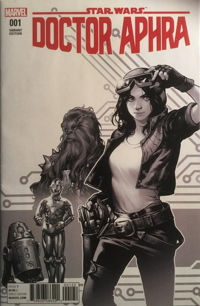 STAR WARS DOCTOR APHRA # 1 RETAILER INCENTIVE SKETCH VARIANT COVER