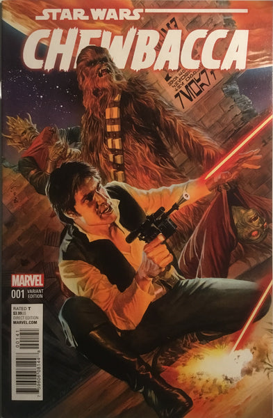 STAR WARS CHEWBACCA # 1 ALEX ROSS 1:50 VARIANT COVER