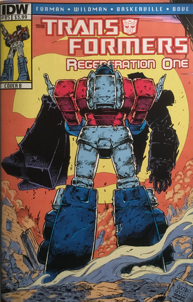 TRANSFORMERS REGENERATION ONE #85 (COVER B)