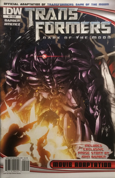 TRANSFORMERS DARK OF THE MOON MOVIE ADAPTATION # 2