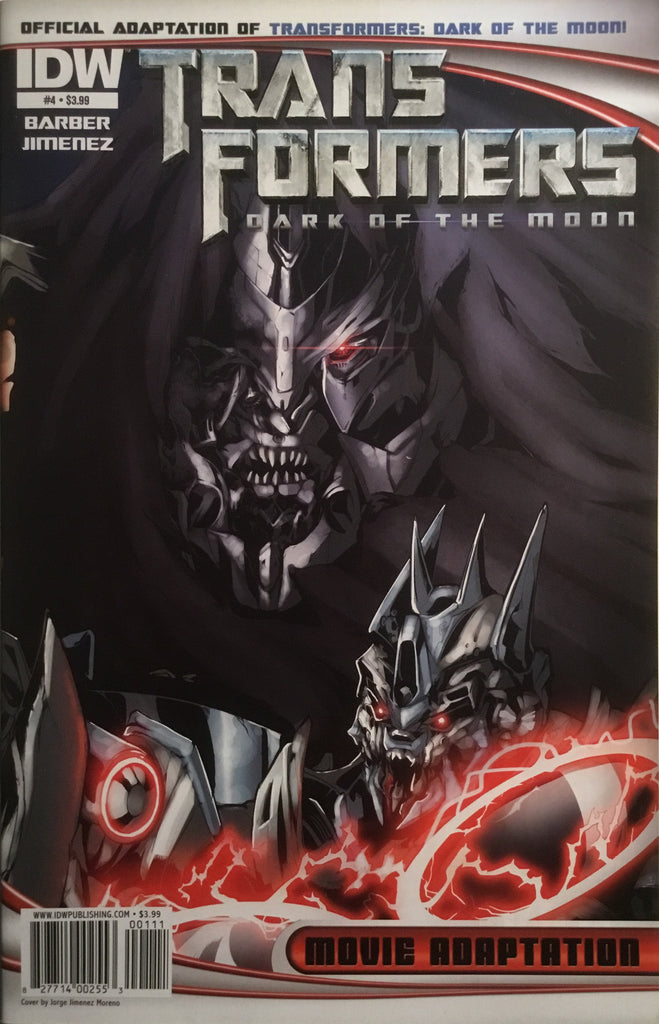 TRANSFORMERS DARK OF THE MOON MOVIE ADAPTATION # 4