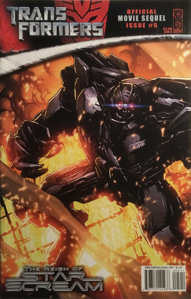 TRANSFORMERS MOVIE SEQUEL THE REIGN OF STARSCREAM # 5 (COVER B)