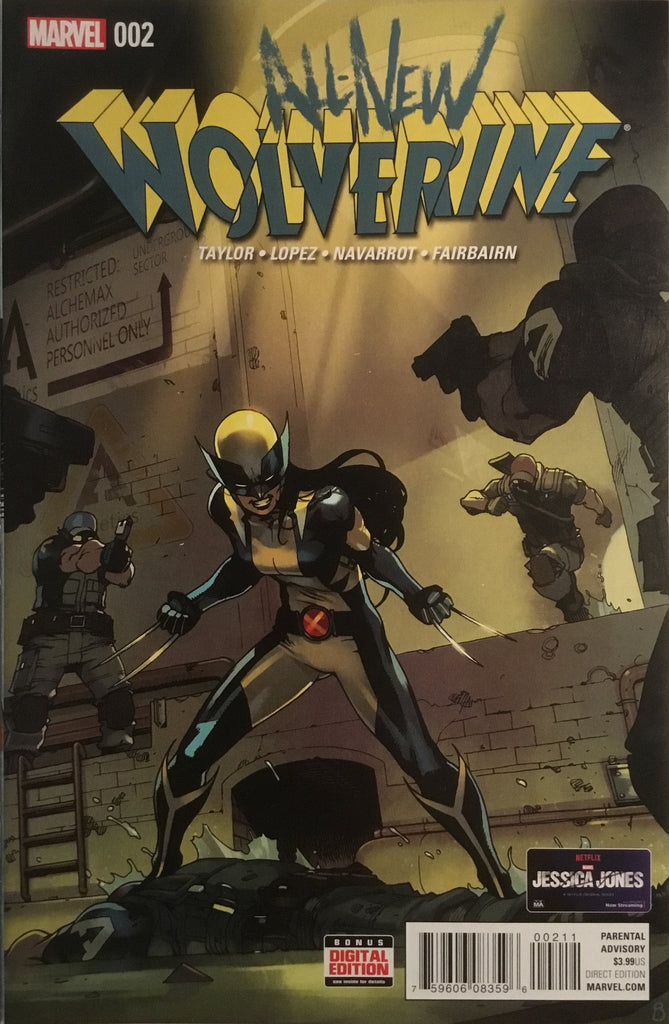 ALL NEW WOLVERINE # 2 FIRST APPEARANCE OF GABBY (HONEY BADGER)