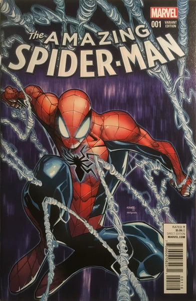 AMAZING SPIDER-MAN # 1 (2015) RAMOS 1:50 VARIANT COVER - Comics 'R' Us