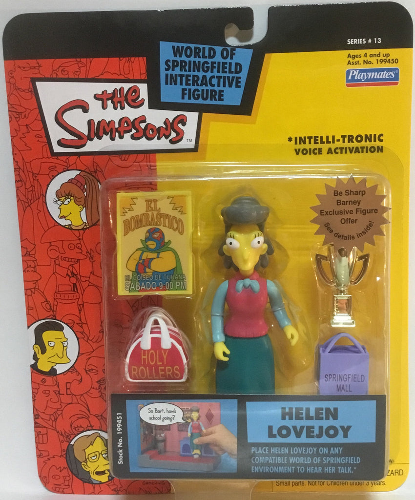 SIMPSONS WORLD OF SPRINGFIELD HELEN LOVEJOY INTERACTIVE FIGURE