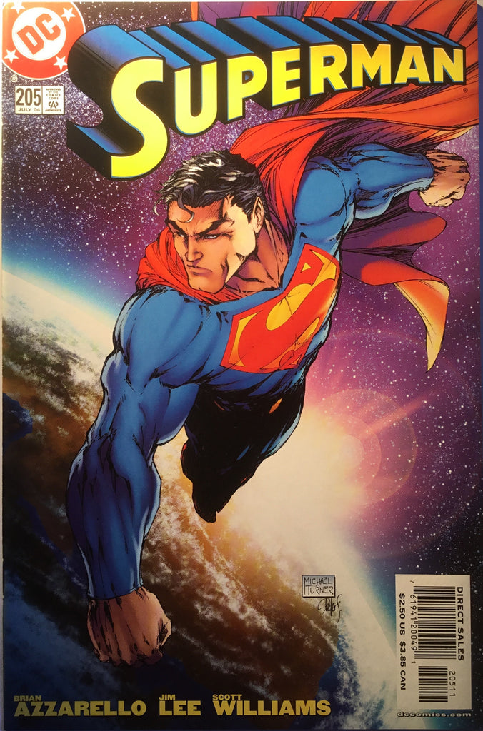 SUPERMAN # 205 MICHAEL TURNER COVER