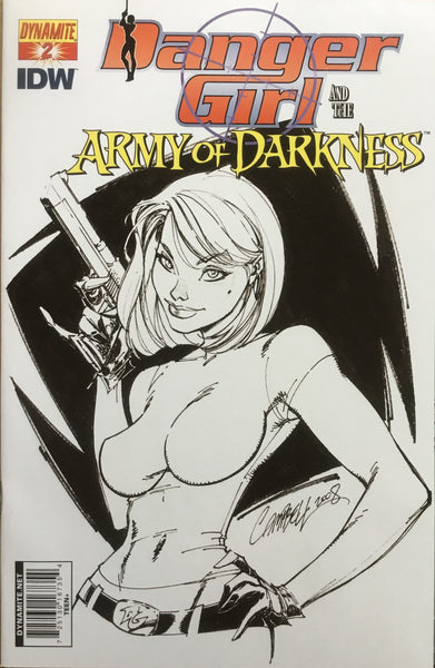 DANGER GIRL AND THE ARMY OF DARKNESS # 2 CAMPBELL SKETCH COVER (1:10 VARIANT) - Comics 'R' Us