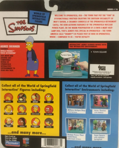 SIMPSONS WORLD OF SPRINGFIELD AGNES SKINNER INTERACTIVE FIGURE