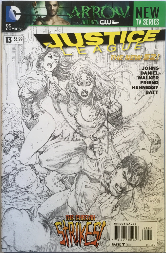 JUSTICE LEAGUE #13 (THE NEW 52) TONY DANIEL 1:100 SKETCH VARIANT - Comics 'R' Us