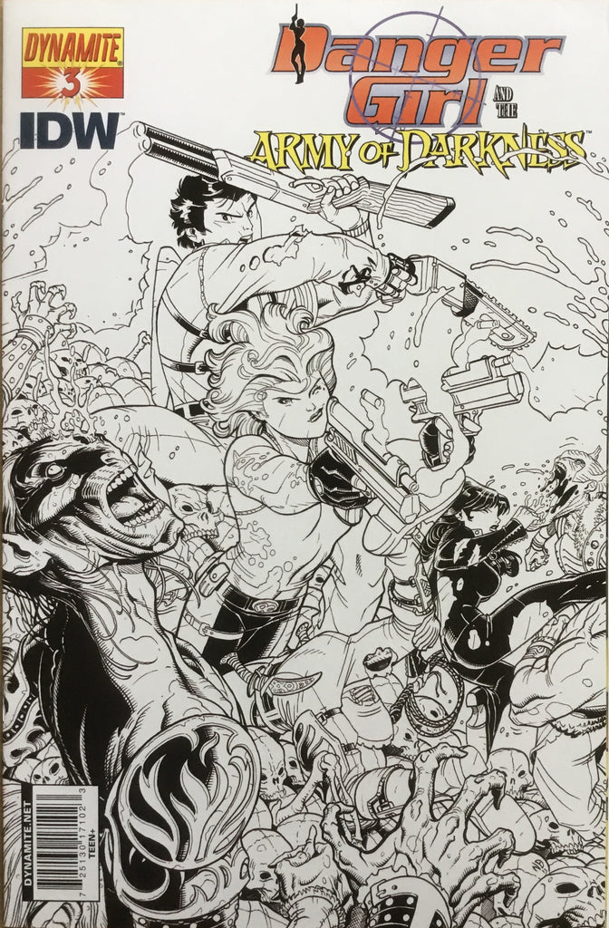DANGER GIRL AND THE ARMY OF DARKNESS # 3 BRADSHAW SKETCH COVER (1:10 VARIANT) - Comics 'R' Us