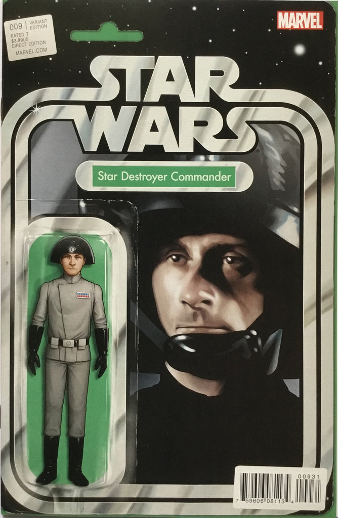 STAR WARS (MARVEL) # 9 STAR DESTROYER COMMANDER ACTION FIGURE VARIANT COVER