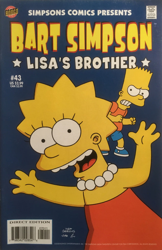 SIMPSONS COMICS PRESENTS BART SIMPSON # 43