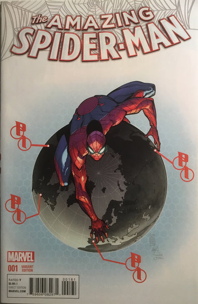 AMAZING SPIDER-MAN # 1 (2015) CAMUNCOLI 1:50 VARIANT COVER - Comics 'R' Us