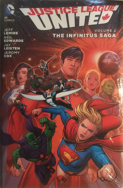 JUSTICE LEAGUE UNITED VOL 2 THE INFINITUS SAGA HARDCOVER GRAPHIC NOVEL