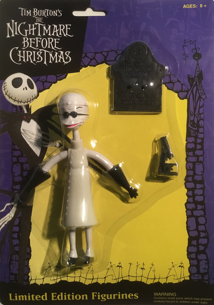 THE NIGHTMARE BEFORE CHRISTMAS DR. FINKLESTEIN EVIL SCIENTIST FIGURE