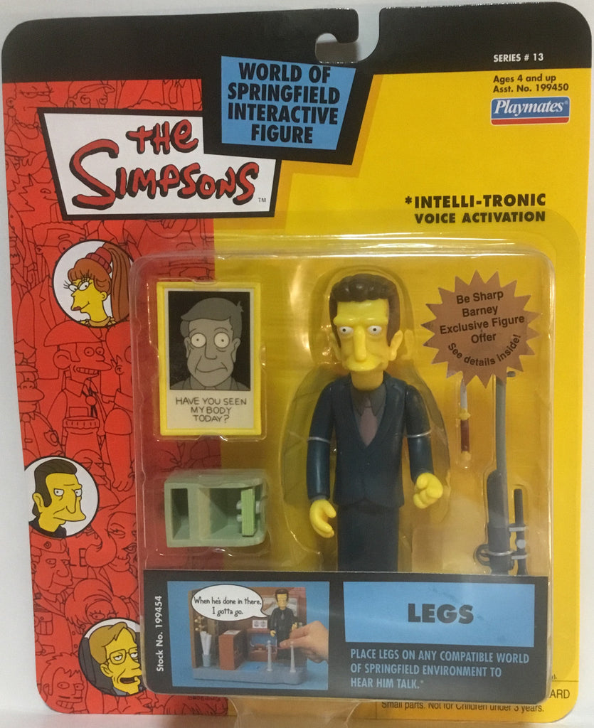 SIMPSONS WORLD OF SPRINGFIELD LEGS INTERACTIVE FIGURE