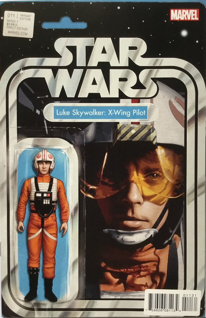 STAR WARS (MARVEL) #11 LUKE SKYWALKER X-WING PILOT ACTION FIGURE VARIANT COVER
