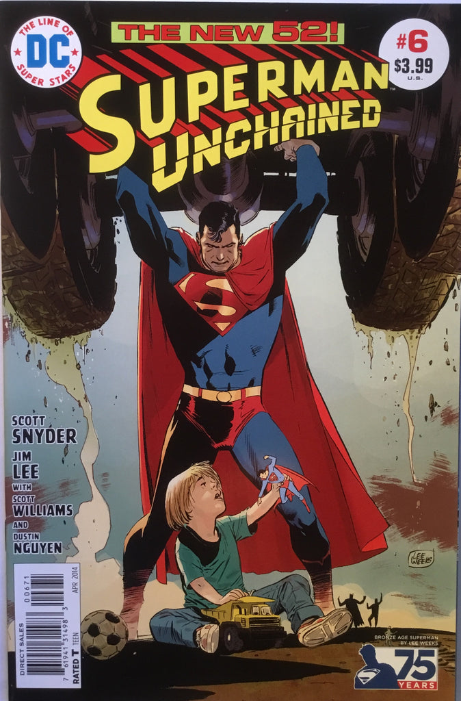 SUPERMAN UNCHAINED # 6 LEE WEEKS 1:50 VARIANT
