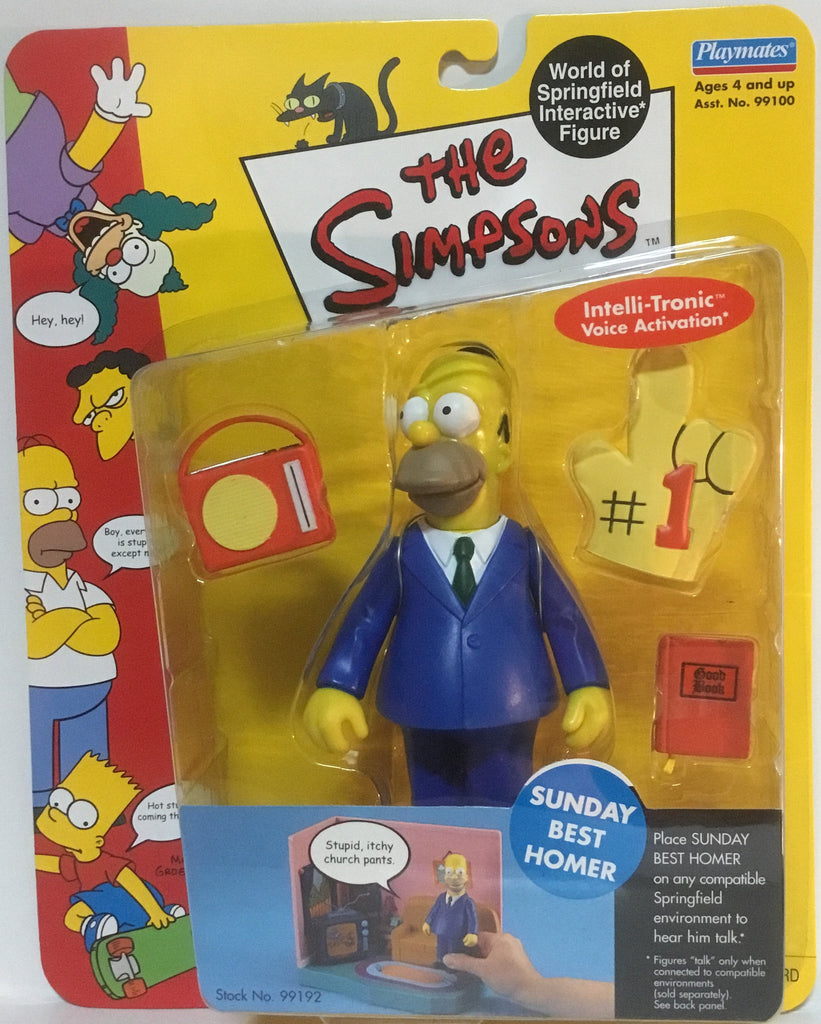 SIMPSONS WORLD OF SPRINGFIELD SUNDAY BEST HOMER INTERACTIVE FIGURE