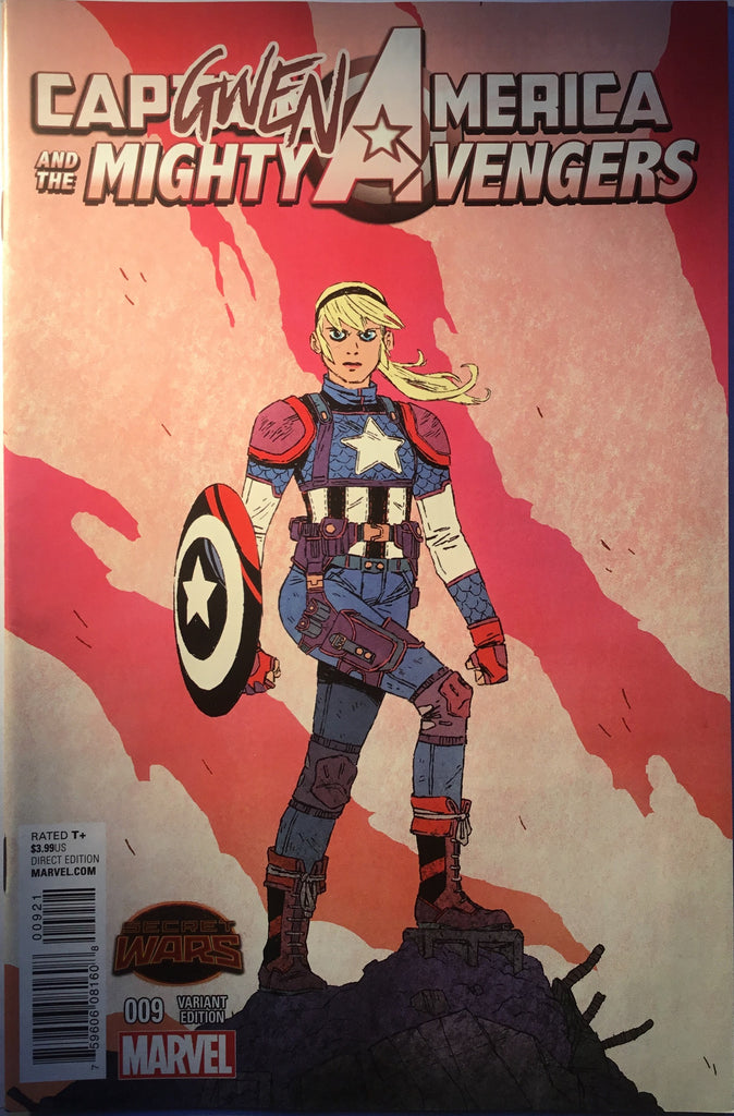CAPTAIN AMERICA AND THE MIGHTY AVENGERS # 9 CAPGWEN AMERICA VARIANT COVER - Comics 'R' Us