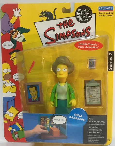SIMPSONS WORLD OF SPRINGFIELD EDNA KRABAPPEL INTERACTIVE FIGURE