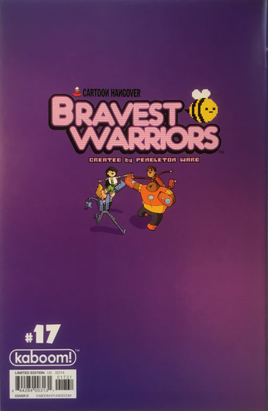 BRAVEST WARRIORS #17 (1:20 VARIANT COVER)