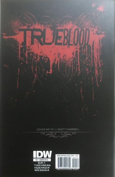 TRUE BLOOD # 2 CAMPBELL SKETCH COVER (1:10 VARIANT)