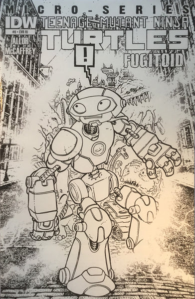 TMNT TEENAGE MUTANT NINJA TURTLES MICRO-SERIES # 8 FUGITOID 1:10 VARIANT