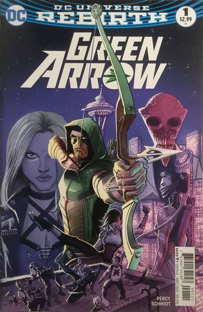 GREEN ARROW # 1 (DC UNIVERSE REBIRTH) FIRST PRINTING