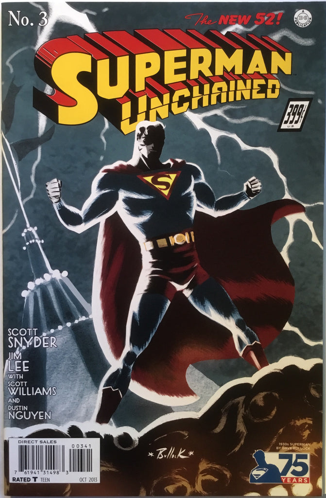 SUPERMAN UNCHAINED # 3 BULLOCK 1:100 VARIANT