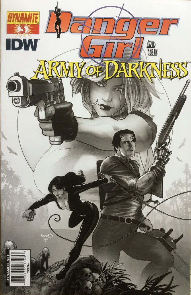 DANGER GIRL AND THE ARMY OF DARKNESS # 3 RENAUD SKETCH COVER (1:15 VARIANT) - Comics 'R' Us