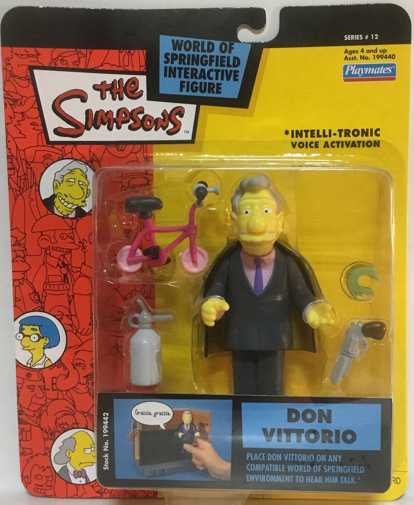SIMPSONS WORLD OF SPRINGFIELD DON VITTORIO INTERACTIVE FIGURE