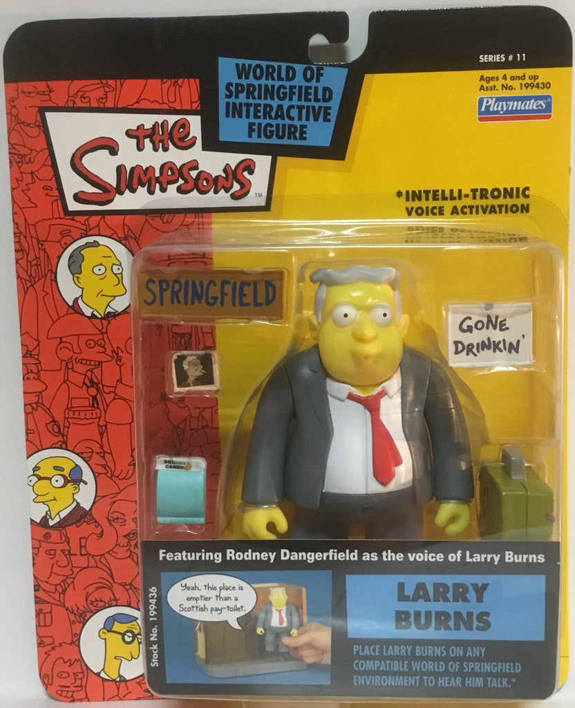 SIMPSONS WORLD OF SPRINGFIELD LARRY BURNS INTERACTIVE FIGURE